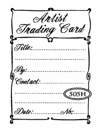 Catslife Press ATC Back UNMOUNTED Rubber Stamp Swirly Curl