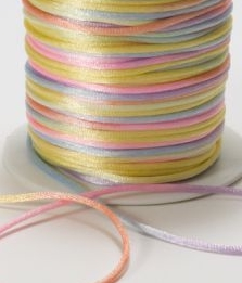 May Arts Pastel Variegated Satin String for Easter & Spring