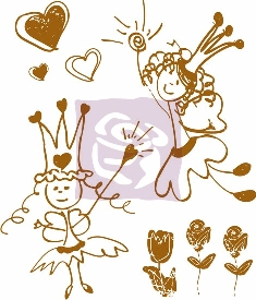 Prima Marketing 2 1/2 x 3 Clear Stamp - Sweet Fairy