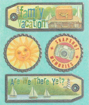 K & Company Tim Coffey TRAVEL - VACATION Metal Tags