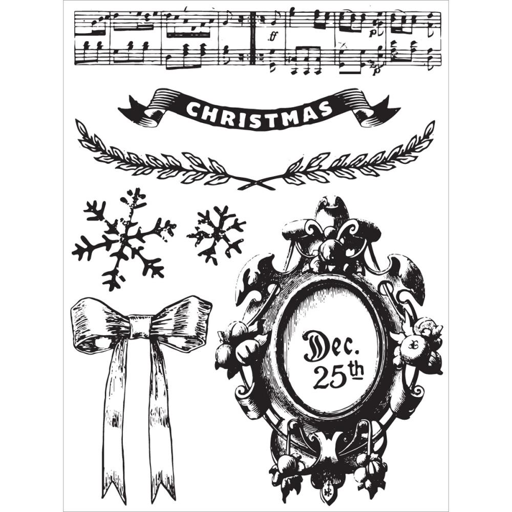 Prima Marketing Clear Stamp Set Victorian Christmas
