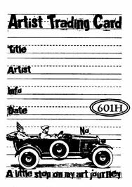 Catslife Press ATC Back UNMOUNTED Rubber Stamp Vintage Car
