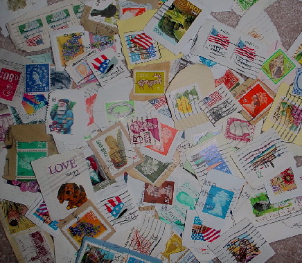 40 United States and Worldwide Cancelled Postage Stamps