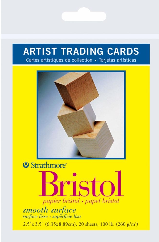 *NEW Strathmore Artist Trading Cards - 20 Bristol ATC Papers