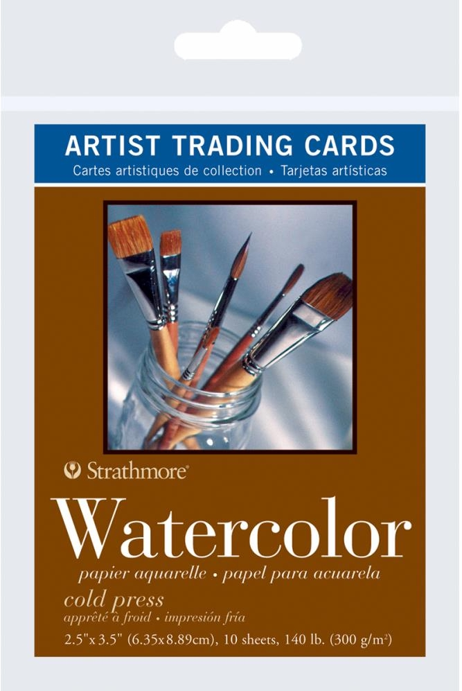 "*NEW Strathmore 3 1/2"" X 2 1/2"" Watercolor 140 lb. Paper"