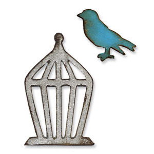 Sizzix Tim Holtz Alterations Movers & Shapers Mini Bird & Cage