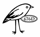 Catslife Press Unmounted Rubber Stamp Simple Bird