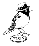 Catslife Press Unmounted Rubber Stamp Bird with Hat