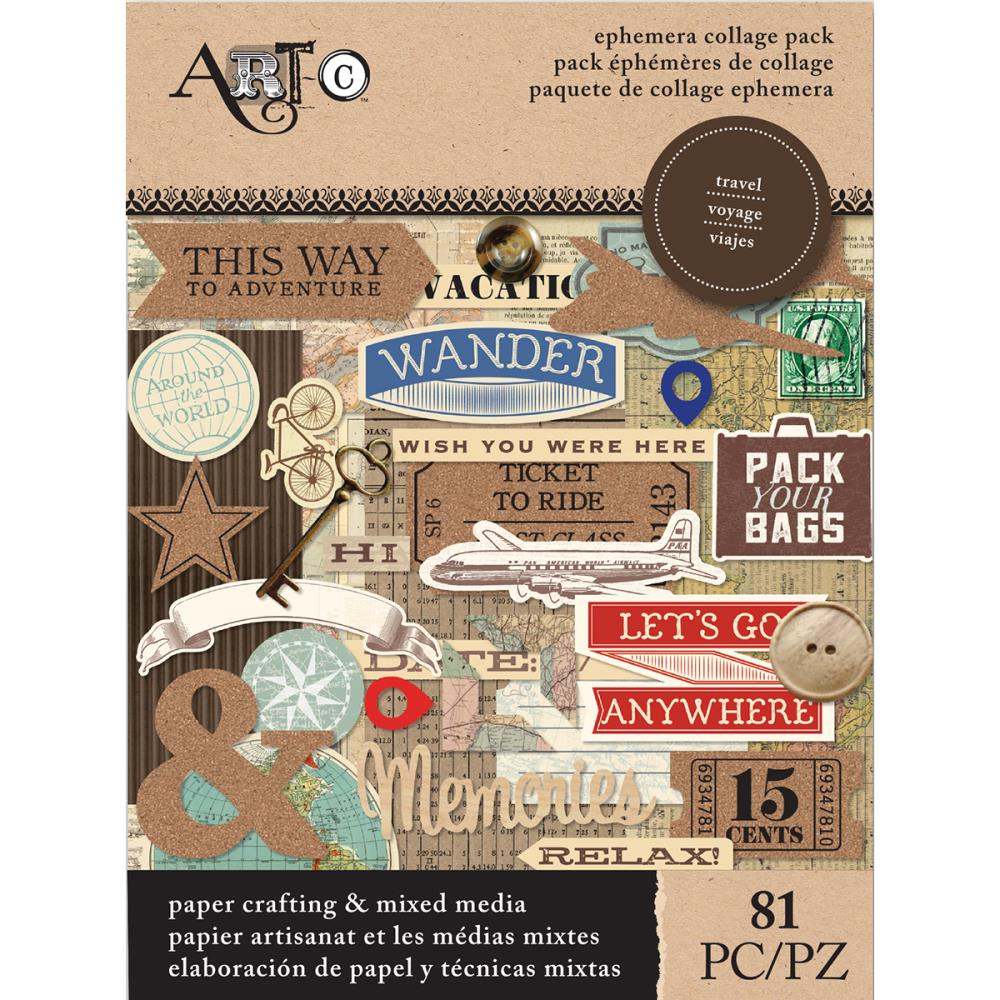 Art-C Ephemera Collage Pack - Travel