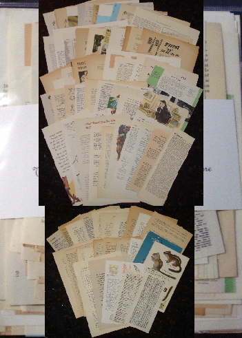 75 Different Vintage Paper Ephemera Book Pages