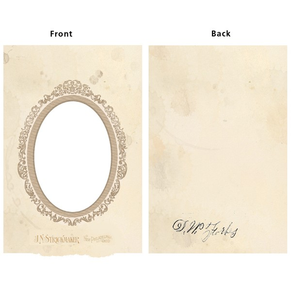 *NEW 7 Gypsies Vintage Chipboard Frame Cover Oval 5 in. x 7 in.