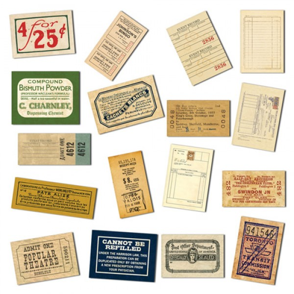 7 Gypsies Mini Ephemera Receipts