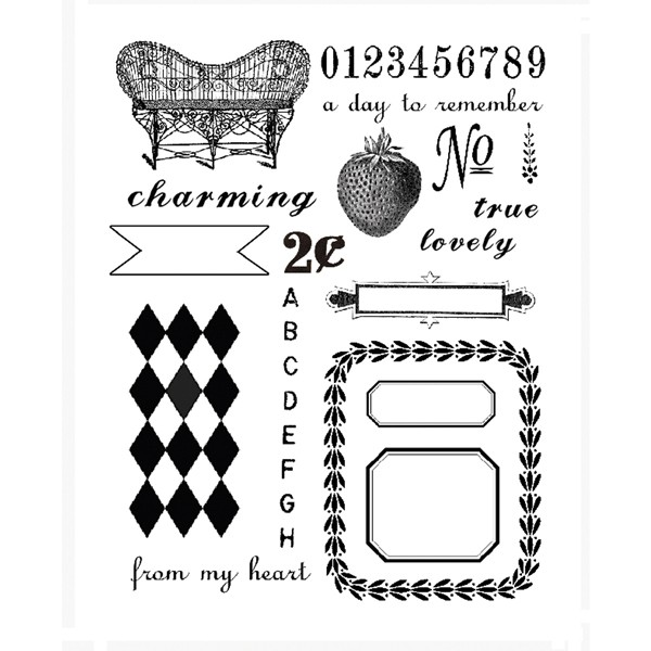 7 Gypsies Clear Acrylic Stamp Set - Trousseau