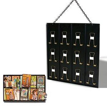 7 Gypsies ATC Receipt Holder - Black - Holds 12 ATCs