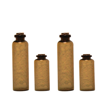 7 Gypsies Apothecary Bottles: Amber - 4 Bottles