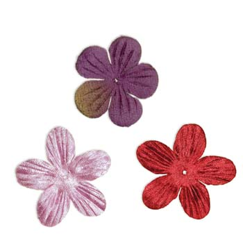 7 Gypsies Velvet Flowers - Eggplant