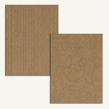 7 Gypsies Chipboard Pieces -  Elements