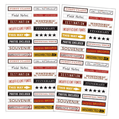 7 Gypsies Mini Label Stickers - Travel