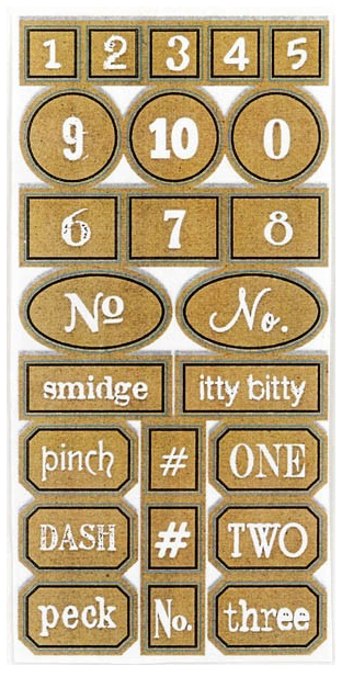 7 Gypsies Apothecary Glass Bottle Labels - Chemistry Numbers