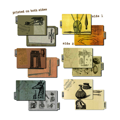 7 Gypsies Printed ATC Folders - Serengeti