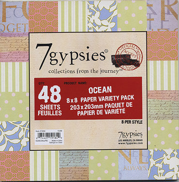 7 Gypsies Ocean 8 in. x 8 in. Paper Variety Pack