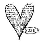 Catslife Press Love Definition Heart Mounted Rubber Stamp