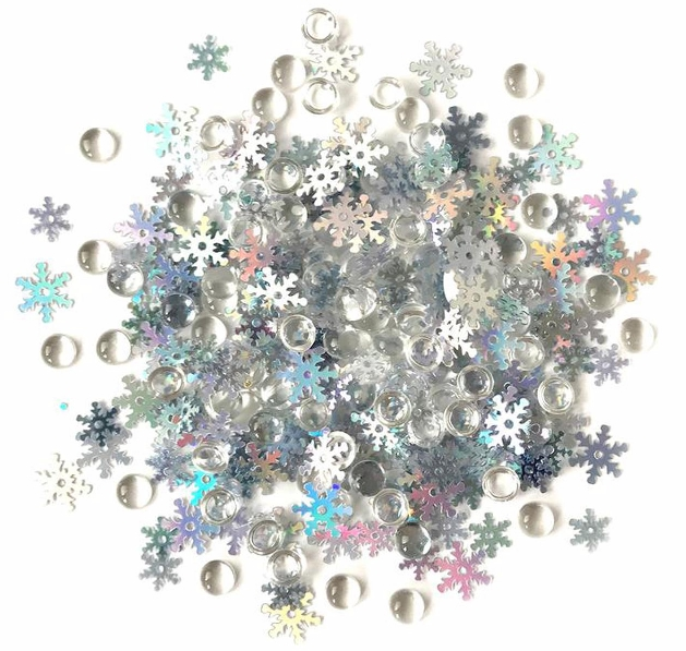 *NEW Buttons Galore Shimmerz Embellishment - Snow Squall