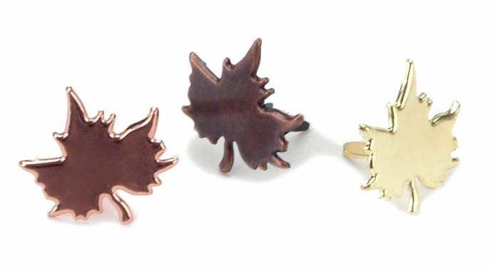 Creative Impressions Fall Metal Maple Leaf Brad Assortment