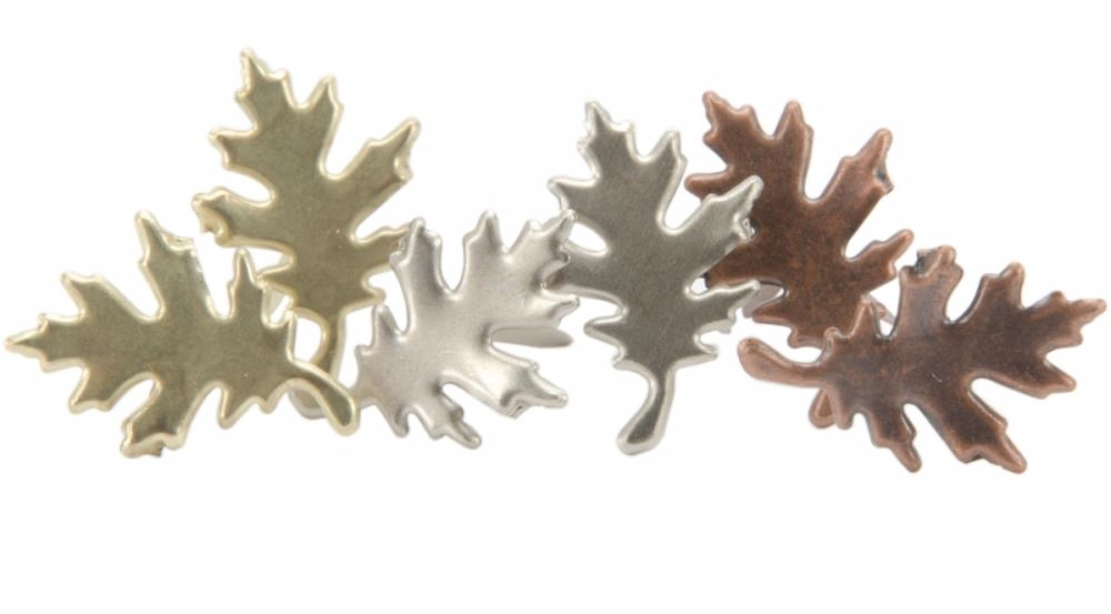 Creative Impressions Antique Fall Oak Leaf Brad Assortment