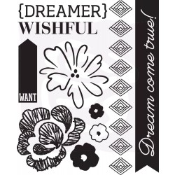 Prima Wishes & Dreams #1 Set of 10 Cling Stamps 970512