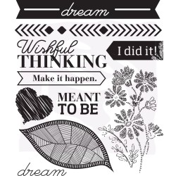Prima Wishes & Dreams #2 Set of 10 Cling Stamps 970528