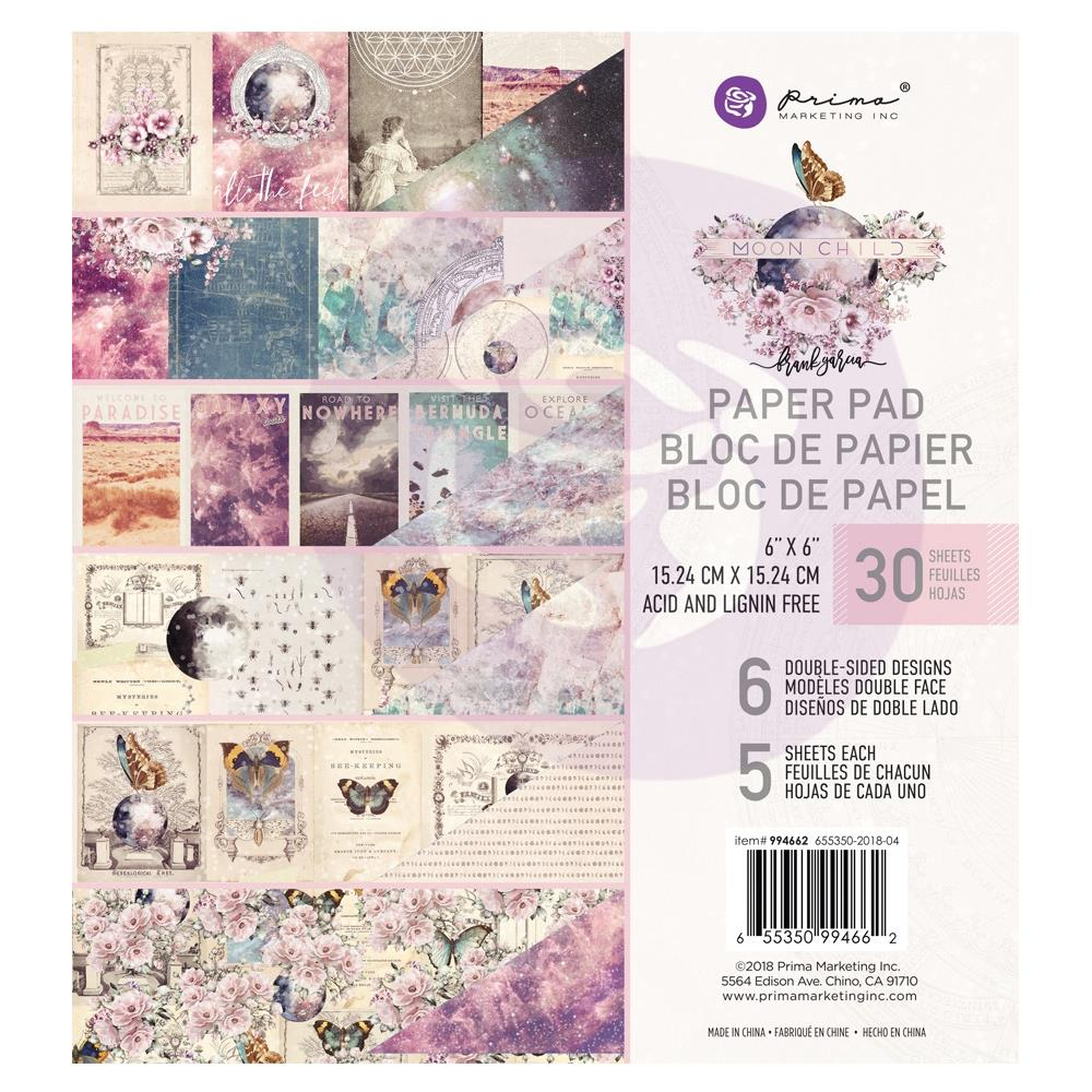 *NEW Prima Marketing 6 in. x 6 in. Moon Child Paper Pad