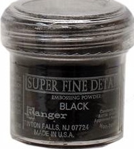 Ranger Industries Super Fine Detail Embossing Powder - Black