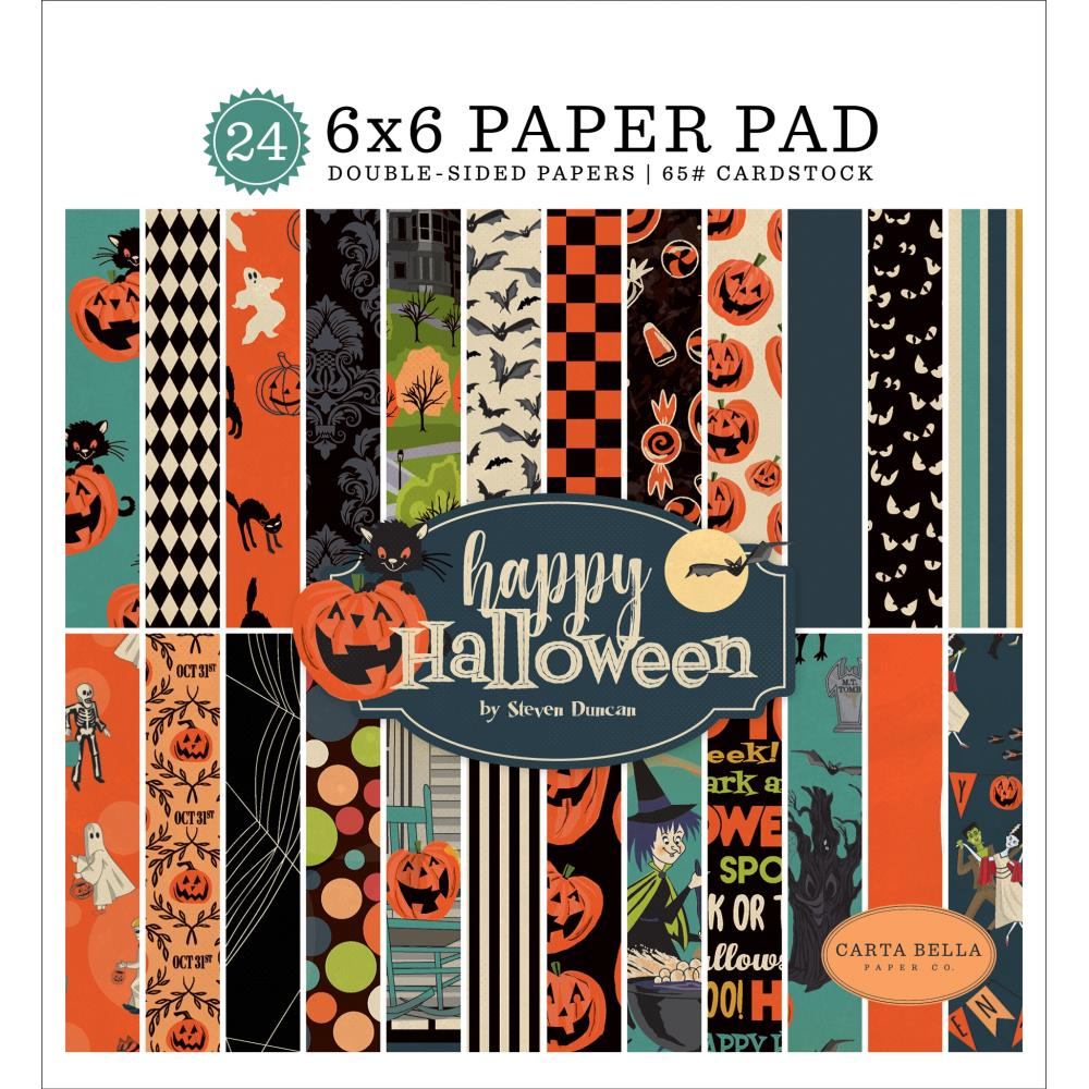 *NEW Carta Bella Happy Halloween 6 in.x 6 in. Paper Collection