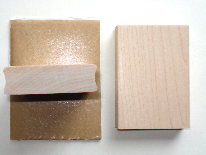 **yourATCstore Wood Block for Mounting Unmounted Rubber Stamp