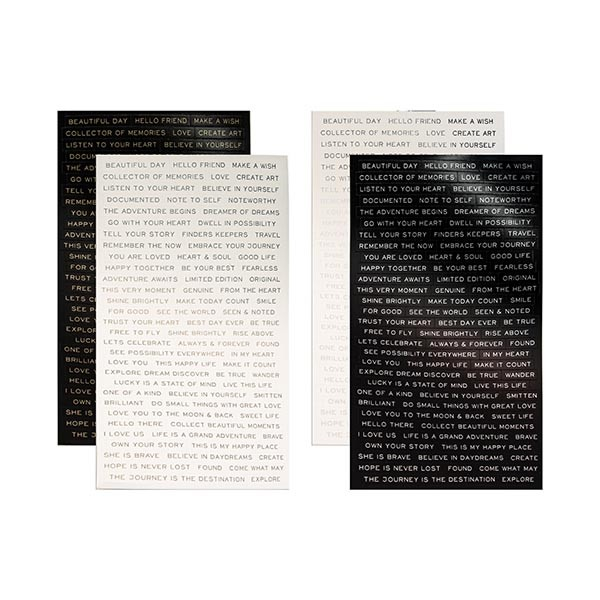 Tim Holtz Idea-ology Metallic Stickers - Quotations