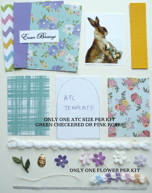 Artist Trading Card Kit of the Month - April 2018 Easter Bunny