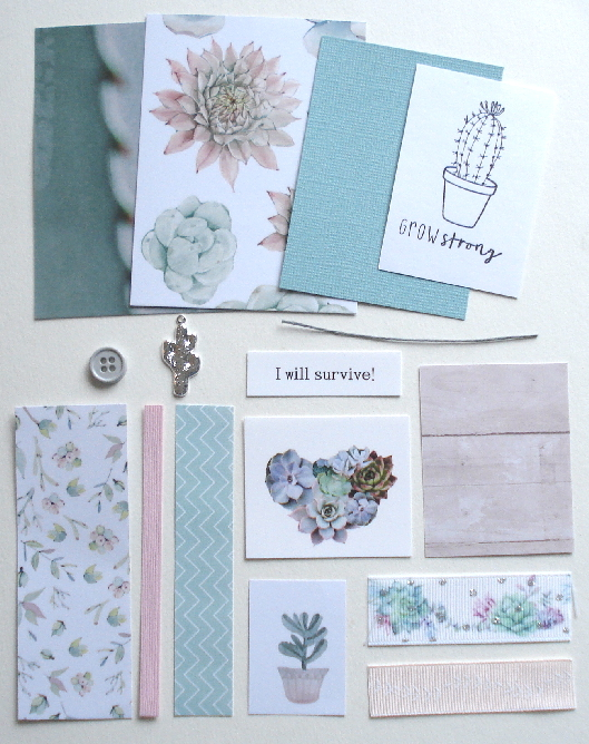 Artist Trading Card Kit of the Month - April 2020 Succulents