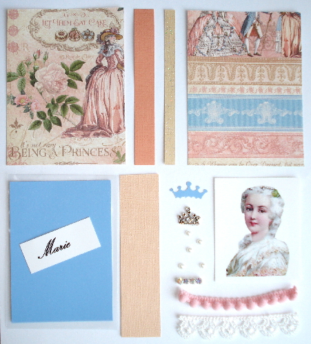Artist Trading Card Kit of the Month - Aug 2016 Marie Antoinette