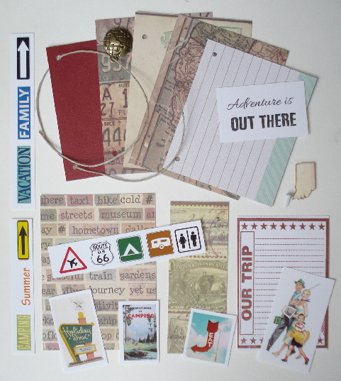Artist Trading Card Kit of the Month - Aug 2015 Travel Journal