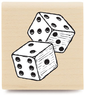 Stampabilities Dice Wood Mounted Stamp
