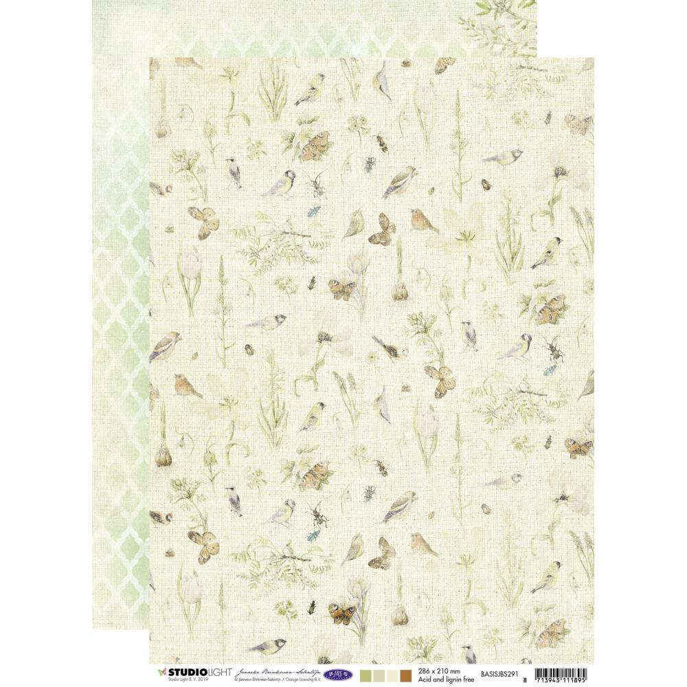Studio Light Janneke Brinkman Double-Sided Cardstock - Nature