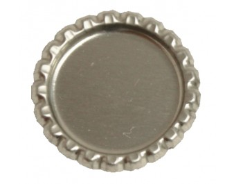 Bottle Cap Inc. - Flattened Chrome 1 inch - 12 Bottle Caps