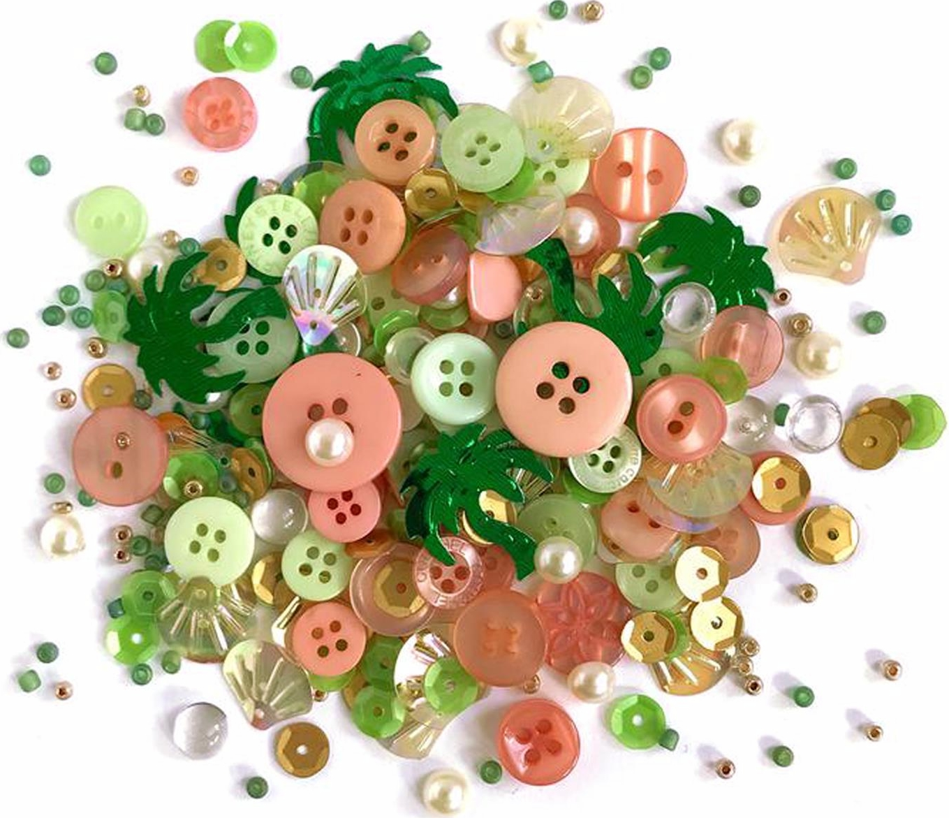 *NEW Buttons Galore Shaker Mix - Bahama Breeze