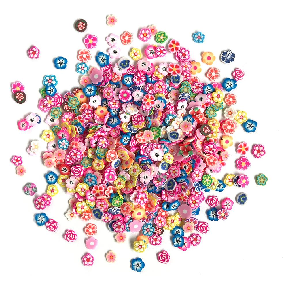 *NEW Buttons Galore Sprinkletz Embellishment - Garden Flowers