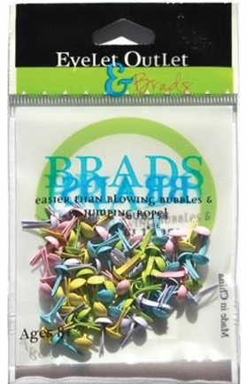 *NEW Eyelets Outlet Round Brads - Pastel Assortment