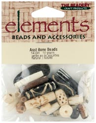 The Beadery Bone Bead Value Pack