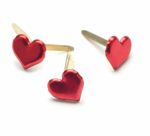 Creative Impressions Medium Red Heart Brads 50/pk.