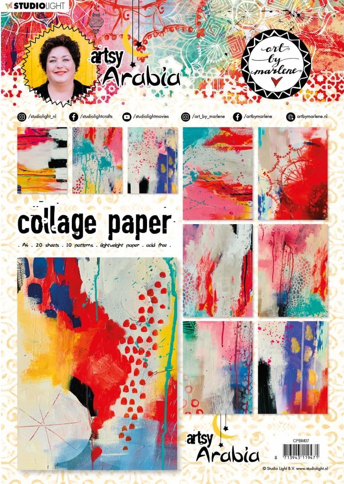 *NEW Studio Light Art by Marlene 3.0 Collage Sheet Paper 20 Pgs.