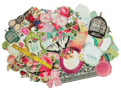 Kaisercraft Secret Admirer Die Cut Ephemera Cardstock Pieces